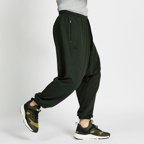 saroual jogging long vert profil