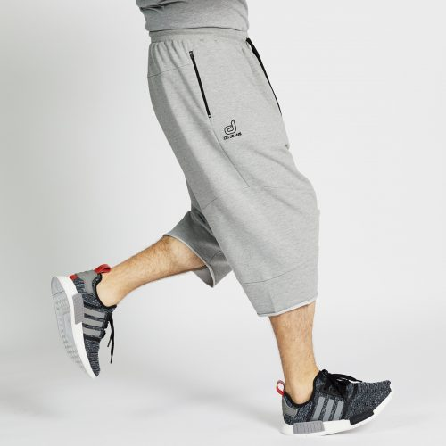 saroual jogging short gris chiné profil sport