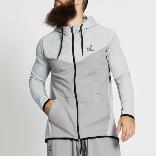 sweat jogging bi colore gris face