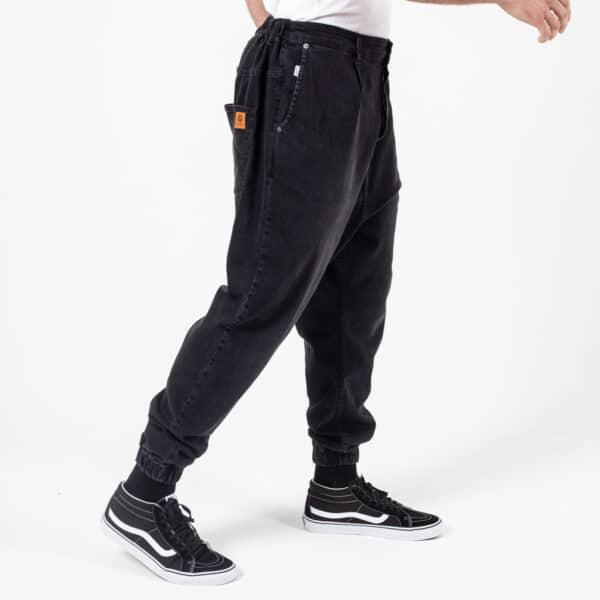 Pantalon jeans basic noir profil dcjeans