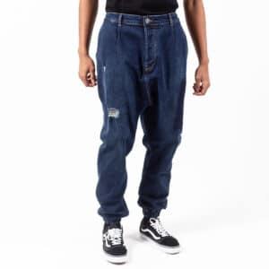 Pantalon jeans patch wash blue face dcjeans