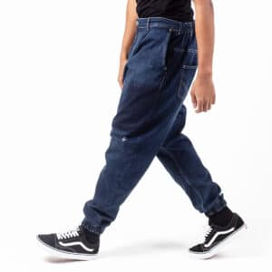 Pantalon jeans patch wash blue profil dcjeans