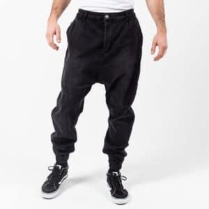 Pantalon jeans patch wash noir face dcjeans