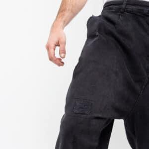 Pantalon jeans patch wash noir zoom dcjeans