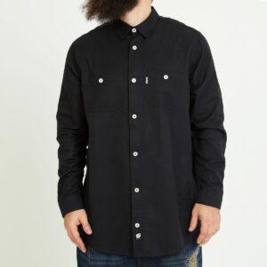 chemise chamb noir face