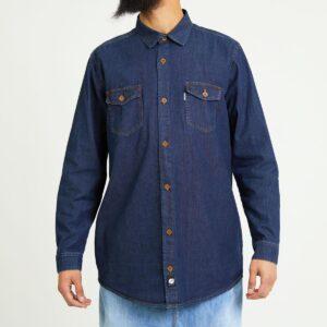 chemise jeans blue face