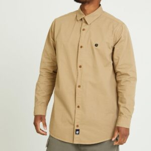chemise twill beige face