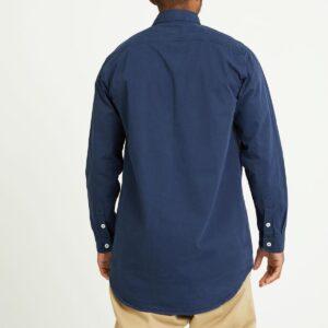 chemise twill bleu dos