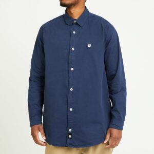 chemise twill bleu face