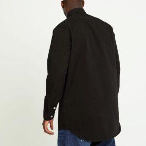 chemise twill noir dos