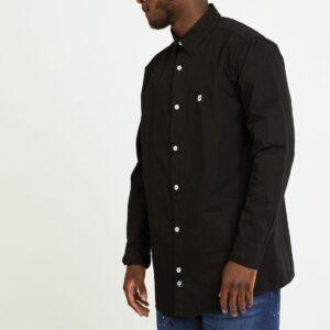 chemise twill noir face