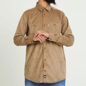 chemise velour beige face