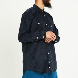 chemise velour blue nuit face