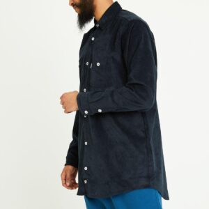 chemise velour blue nuit profil