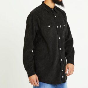 chemise velour noir profil