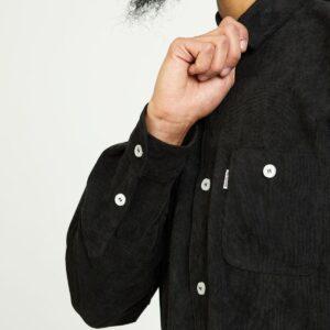 chemise velour noir zoom