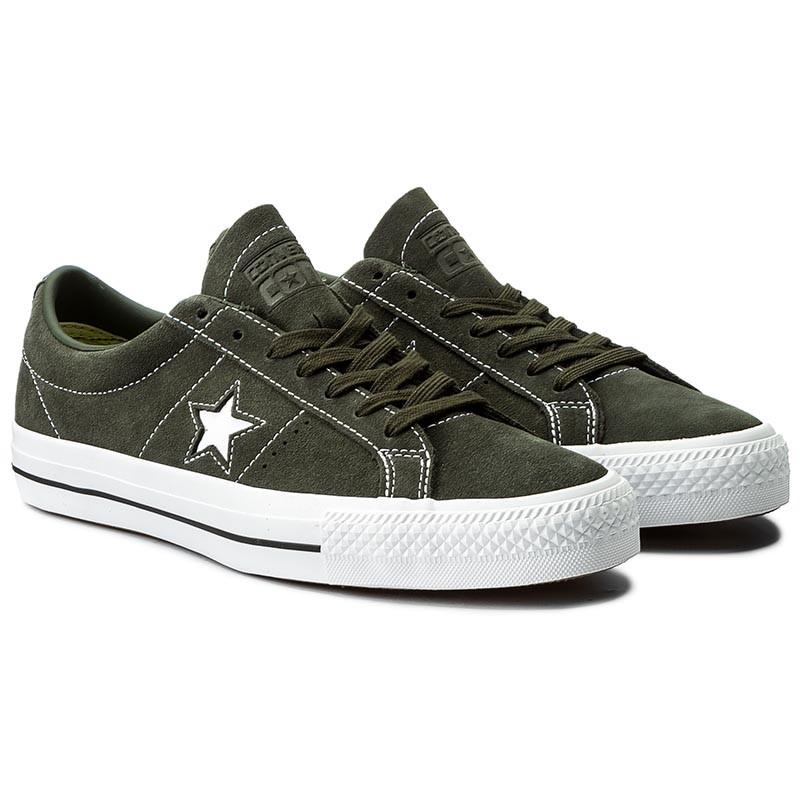 Converse ONE STAR OX Vert daim