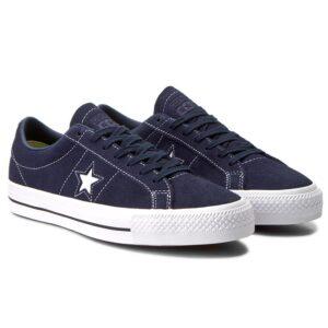 converse one star daim bleu paire