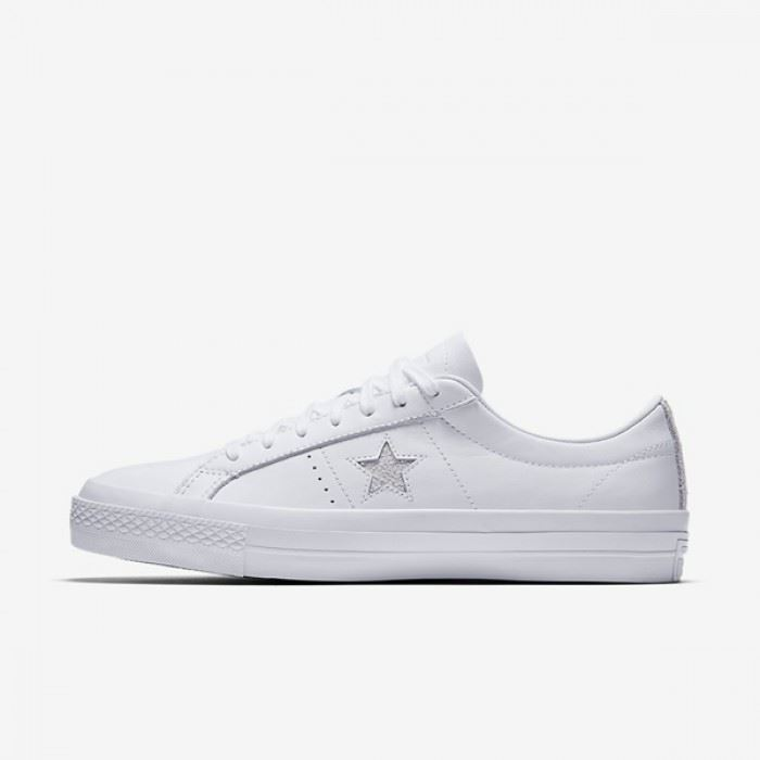 Converse ONE STAR OX White cuir - DCjeans saroual and clothing