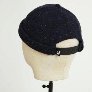docker miki hat noir wool moucheté dos