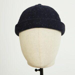 docker miki hat noir wool moucheté face