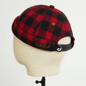 docker miki hat rouge flannelle dos