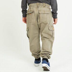 pantalon cargo enfant beige dos