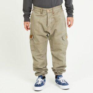 pantalon cargo enfant beige face