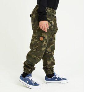 pantalon cargo enfant camouflage profil