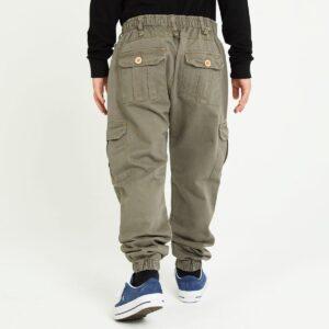 pantalon cargo enfant kaki dos