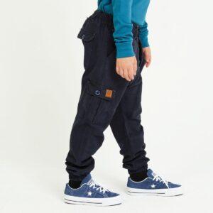 pantalon cargo enfant marine profil