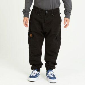pantalon cargo enfant noir face