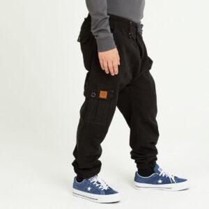 pantalon cargo enfant noir profil