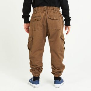 pantalon cargo enfant tabac dos