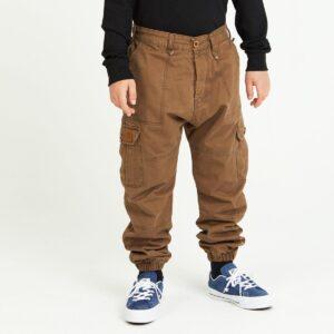 pantalon cargo enfant tabac face
