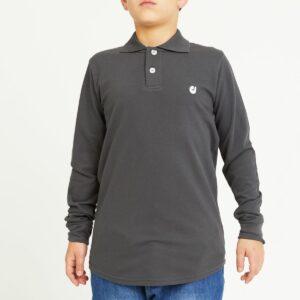 polo enfant gris profil