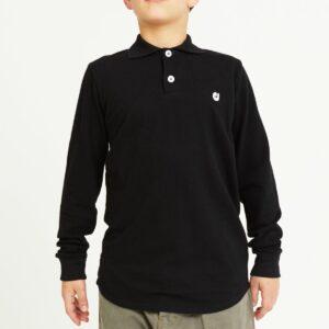 polo enfant noir profil