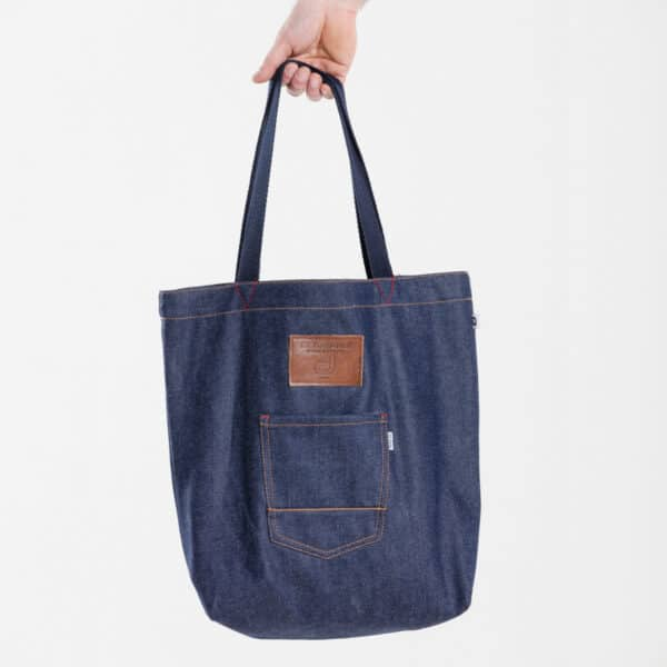 bag shopper dcjeans jeans cuir marron