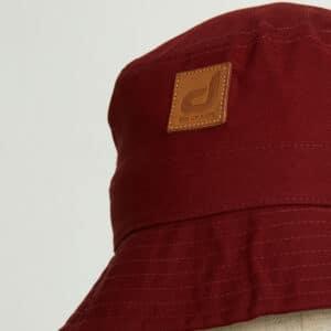 bob bucket hat chapeau bordeau twill zoom face dcjeans