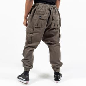 Pantalon cargo basic kaki dos dcjeans