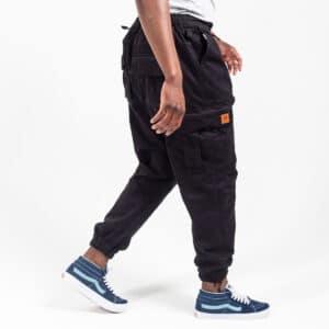 Pantalon cargo basic noir profil dcjeans