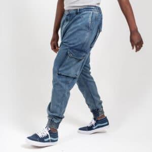 Pantalon jeans cargo dirty profil dcjeans