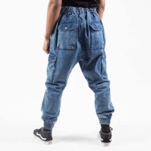 Pantalon jeans cargo light dos bis dcjeans