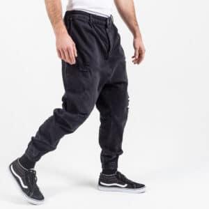 Pantalon jeans destroy black profil dcjeans
