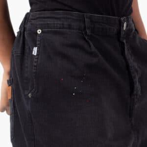 Pantalon jeans painted noir peinture dcjeans