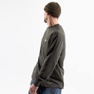 Tshirt basic manche longue kaki profil bis dcjeans