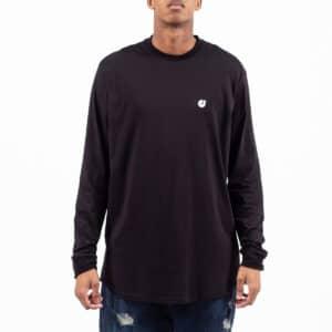 Tshirt basic manche longue noir face dcjeans