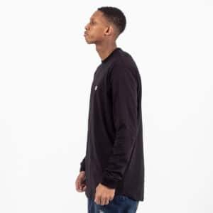Tshirt basic manche longue noir profil dcjeans