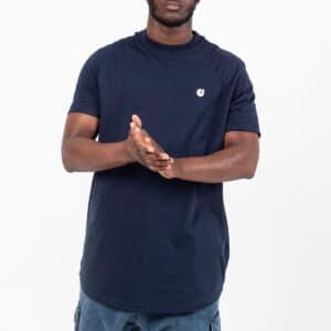 Tshirt manche courte ourlet bleu face dcjeans