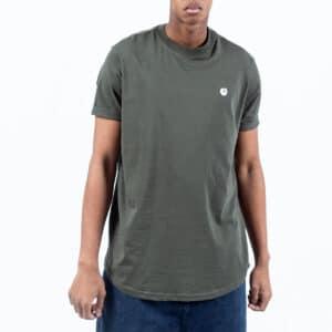 Tshirt manche courte ourlet kaki face dcjeans